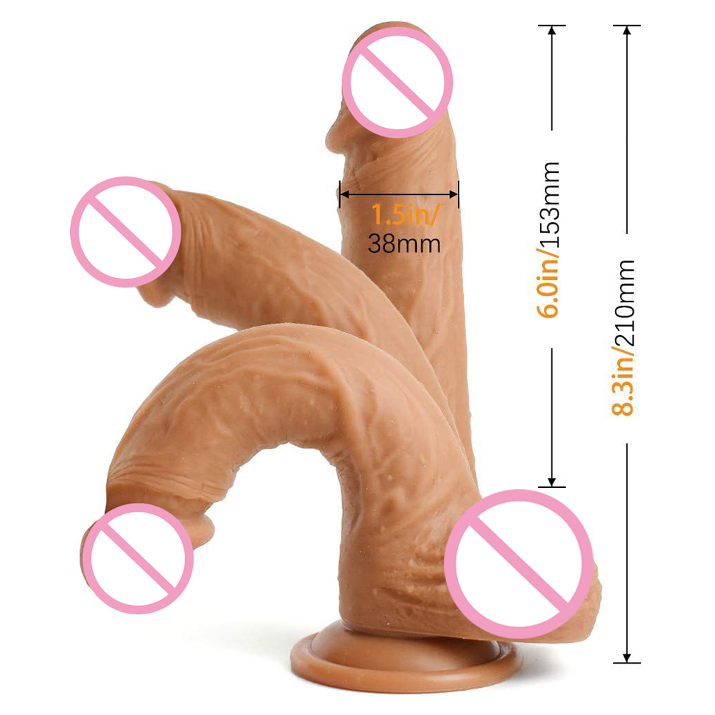 Strap-on Dildo Realistic Dildo Strapless G spot Silicone Dildo-Harness Dildos Fake Penis Adult BDSM Sex Toy Silicone penis (built-in skeleton)