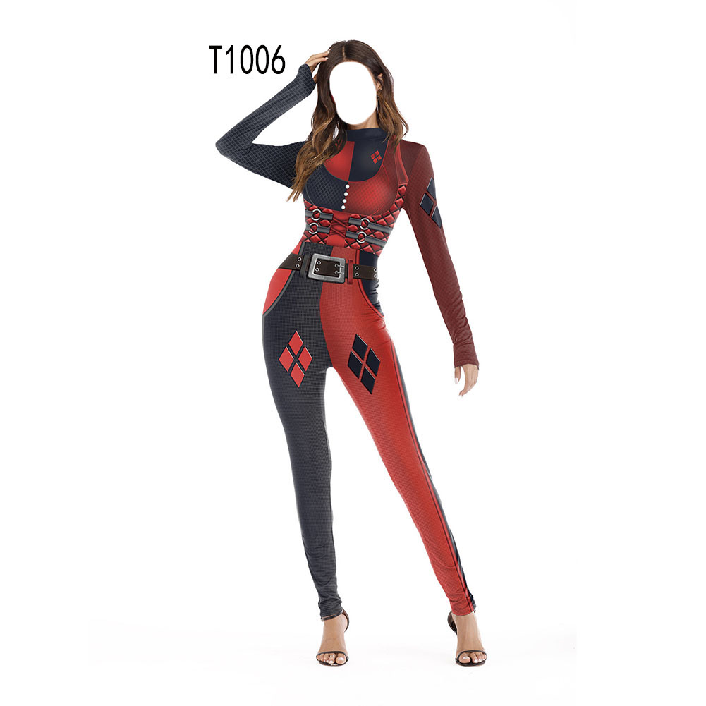 Female Slim Jumpsuits Long Sleeve Cosplay Custome for Halloween Party Festival  T1006_L/XL