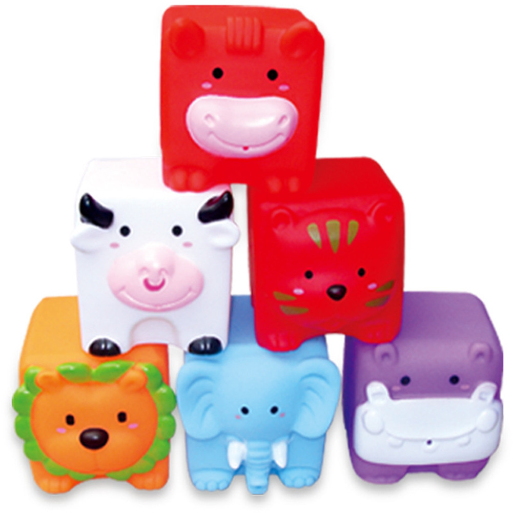 6pcs/set Water Spraying Small Baby Kids Bath Toys Bathe Room Water Fun Game Playing Toy