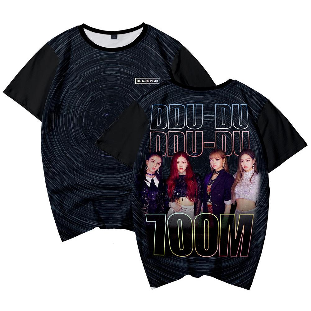Men Women Blackpink Girls Group 3D Digital Printing Fashion Casual T-shirt Short-Sleeve Pullover Shirt C_M