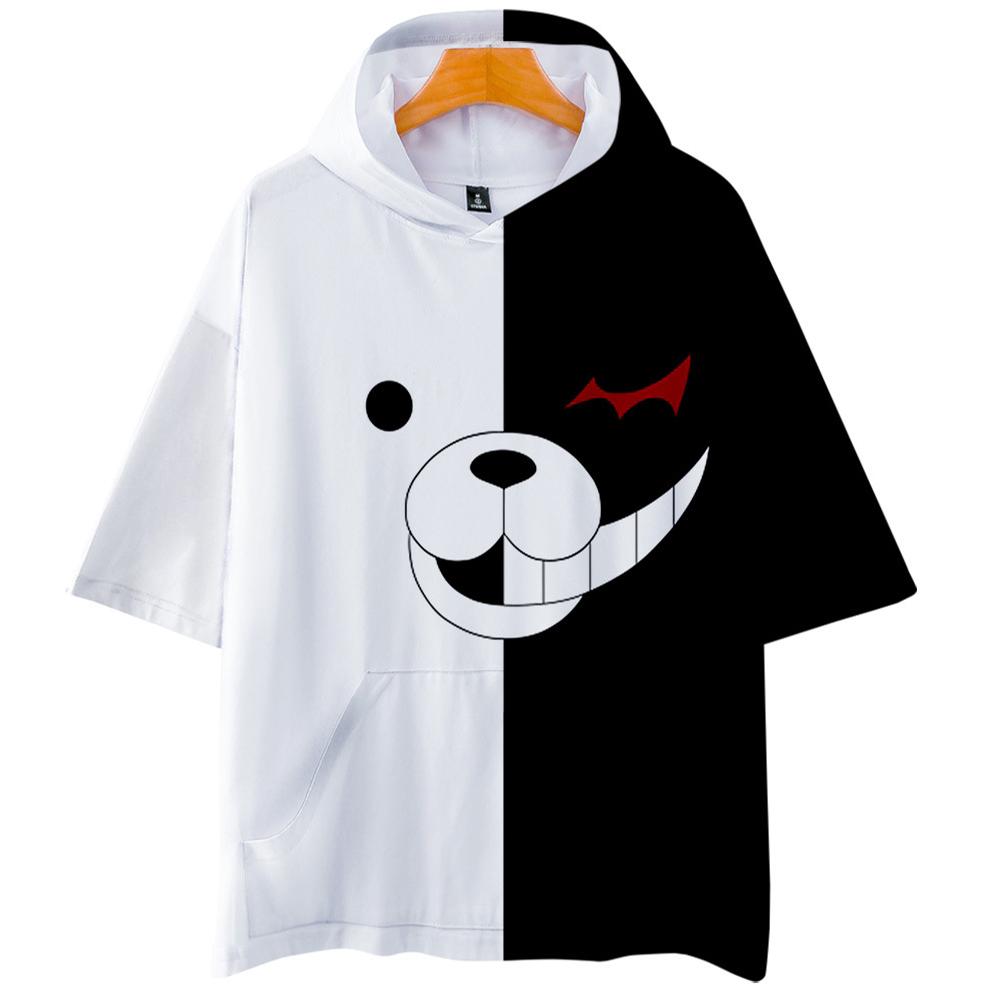 Danganronpa Monokuma 3D Digital Printing Hoodies Cosplay Short Sleeves Hoodies