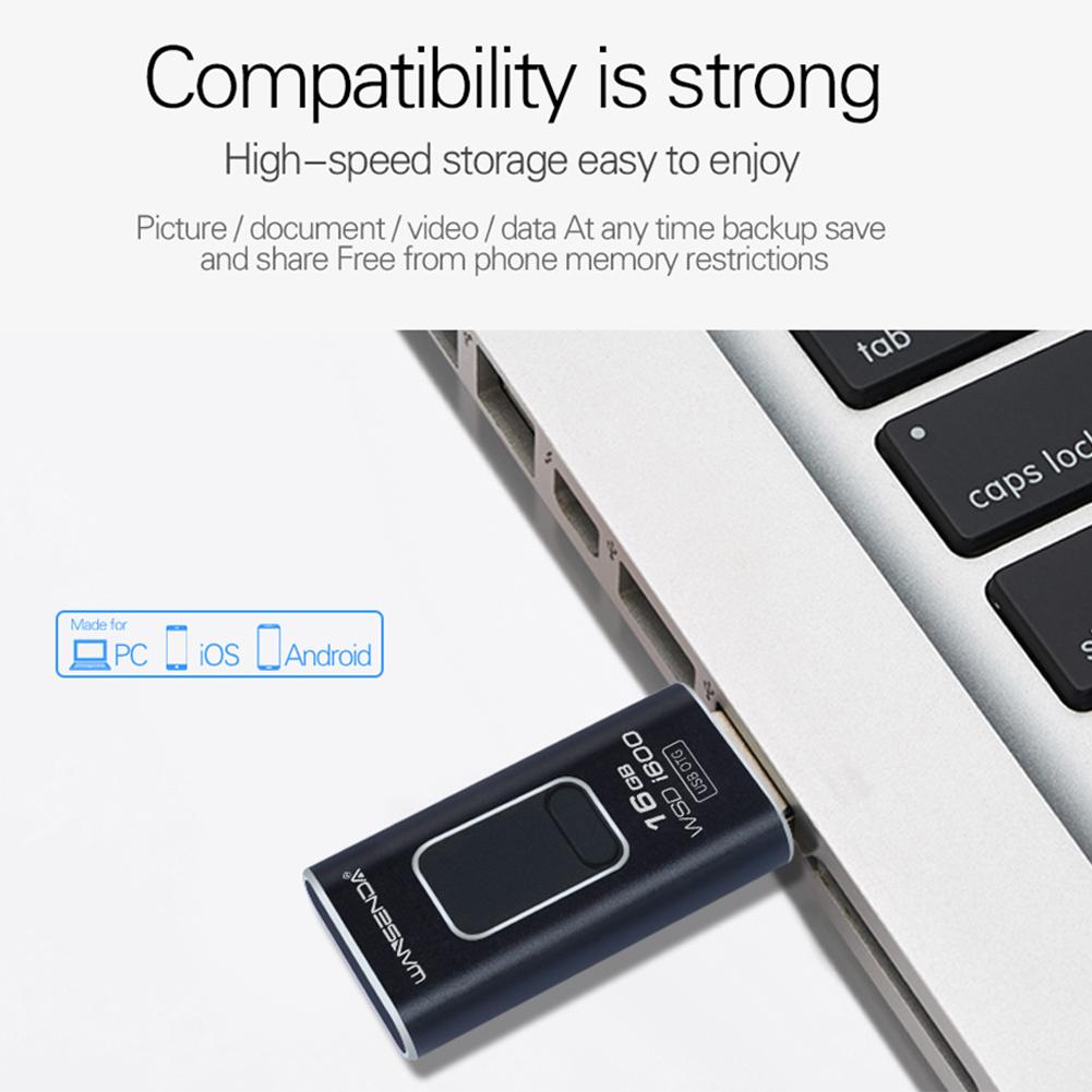 4 in 1 Micro USB Stick OTG Pen Drive Black_4G