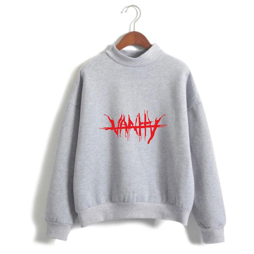 Men Women Couple Fashion Printed Fashion Casual Turtleneck Sweater Tops 3#_3XL