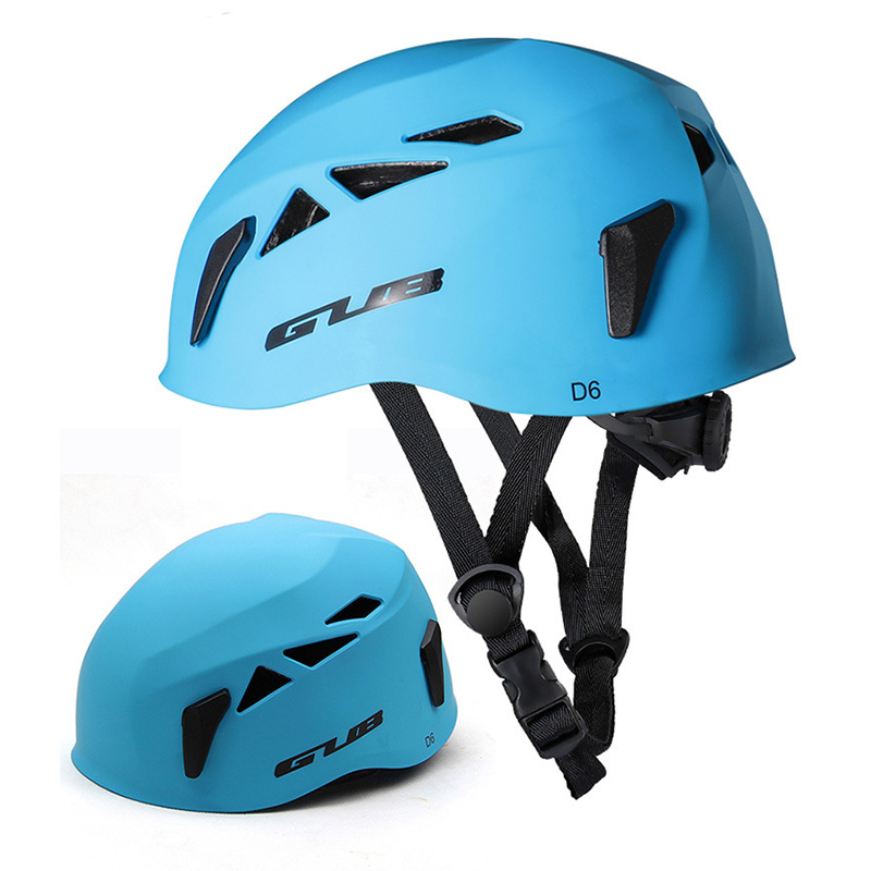 GUB Outdoor Downhill Extension Cave Rescue Mountaineering Upstream Helmet Safety Hat Climbing Equipment Matte blue_L