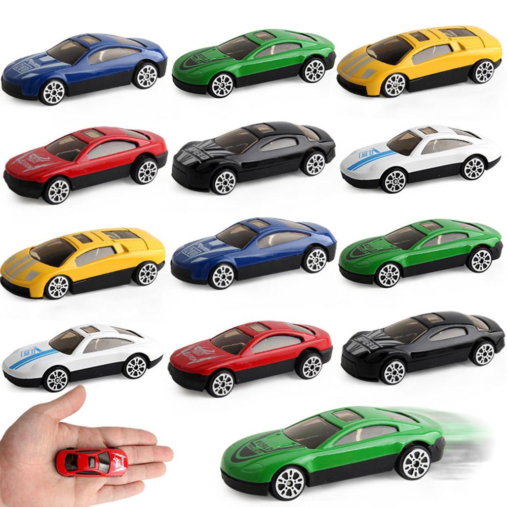 6 pcs Children 1/72 Simulation Module Alloy Toys Vehicle Truck Mini Cars Toy for Kids Random Color