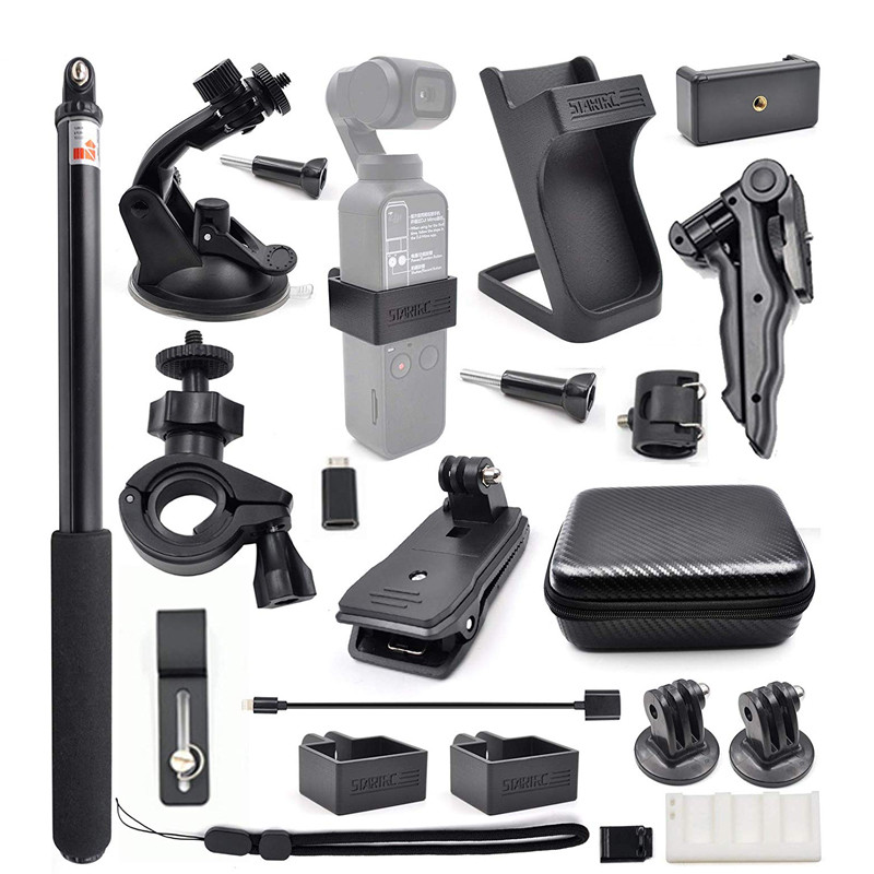 Gimbal Camera OSMO Pocket Expansion Accessories Kit / 21 In 1 Handheld Action Camera Mounts Parts for DJI OSMO Pocket default