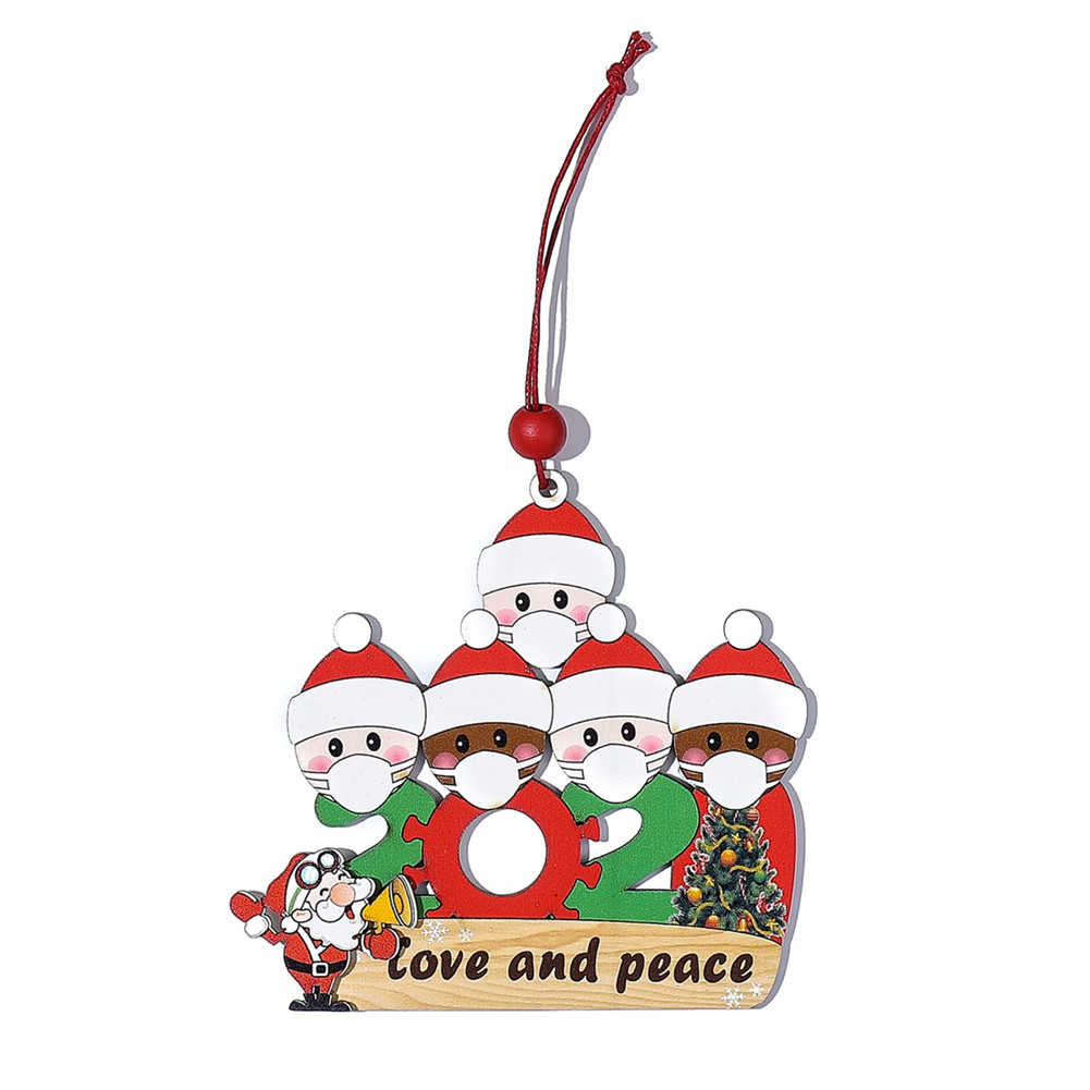 Survived Family Ornament 2020 Christmas Holiday Decorations Xmas Tree Hanging Pendant 5 people