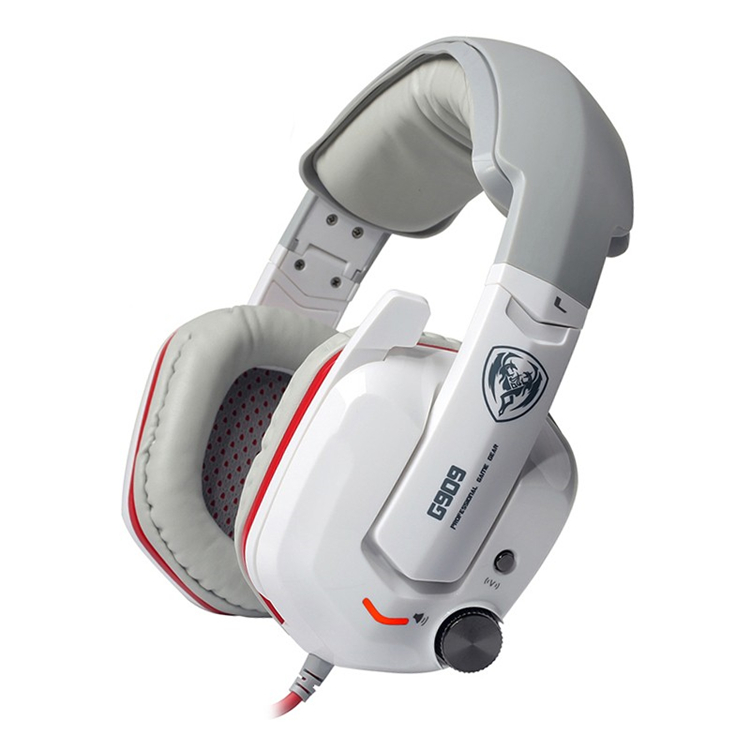 Somic G909 Gamer Headset Virtual 7.1 Stereo Wired Gaming Headphones Vibration Earphone Headphone  white