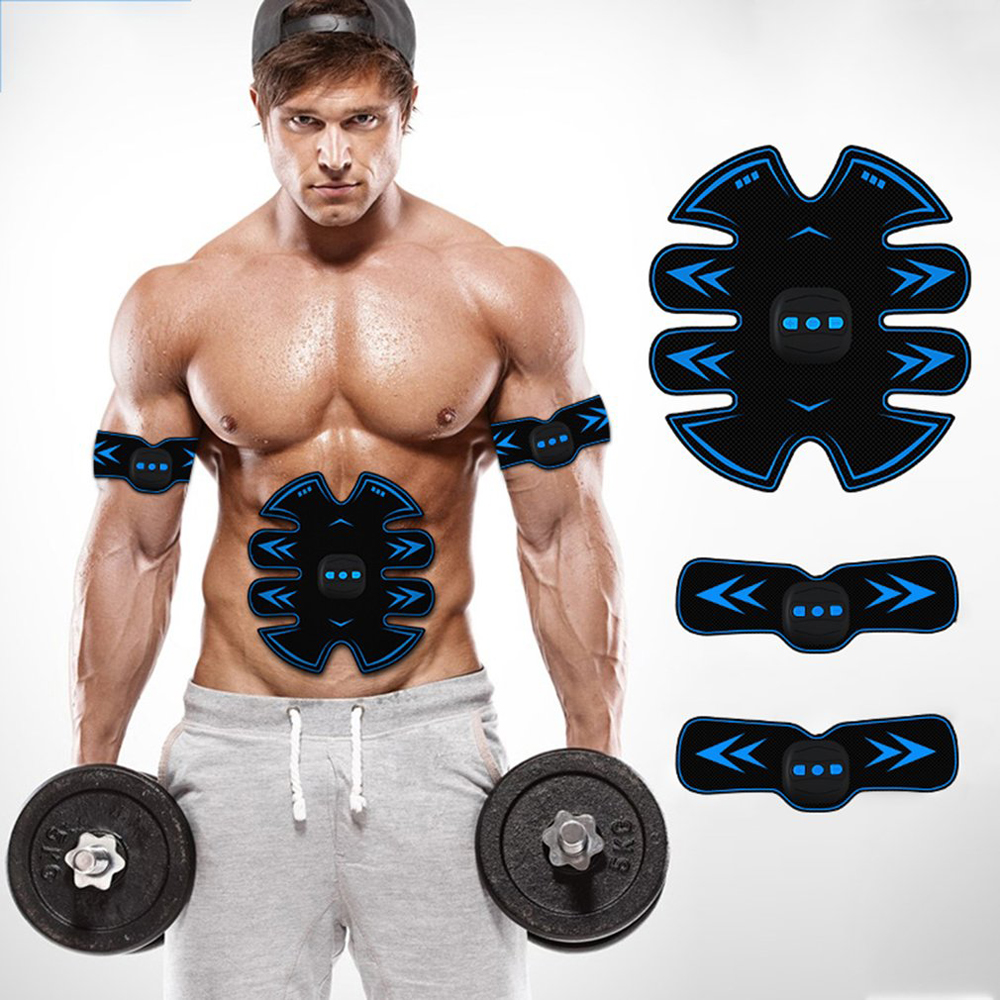 Smart Fitness Equipment Abdominal Muscles Exercise Muscle Home Instrument Lazy Abdomin Estimulador Muscular Slim blue