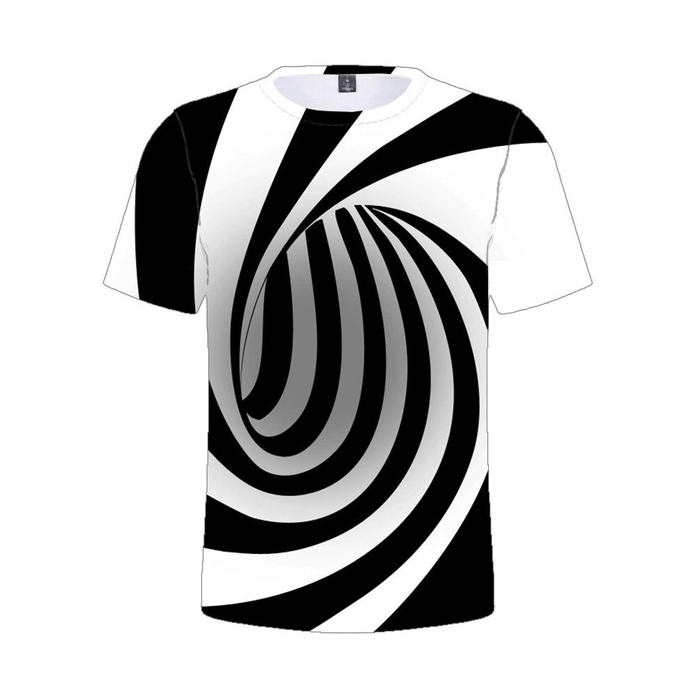 Children's T-shirt 3D digital color printing  short-sleeved top for 5-12 years old kids 8021_160cm