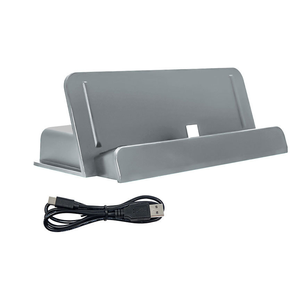 USB Type-C Charging Stand Charger For Nintendo Switch Lite Console Dock Holder gray