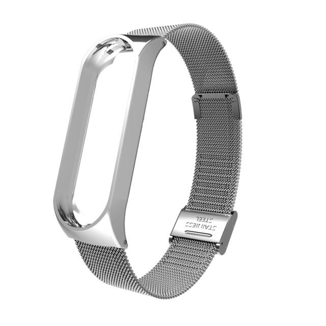 Mi Band 3 Wrist Strap Metal Screwless Stainless Steel for Xiaomi Mi Band 3 Strap Bracelet Miband 3 Wristbands Pulseira Miband3 Silver