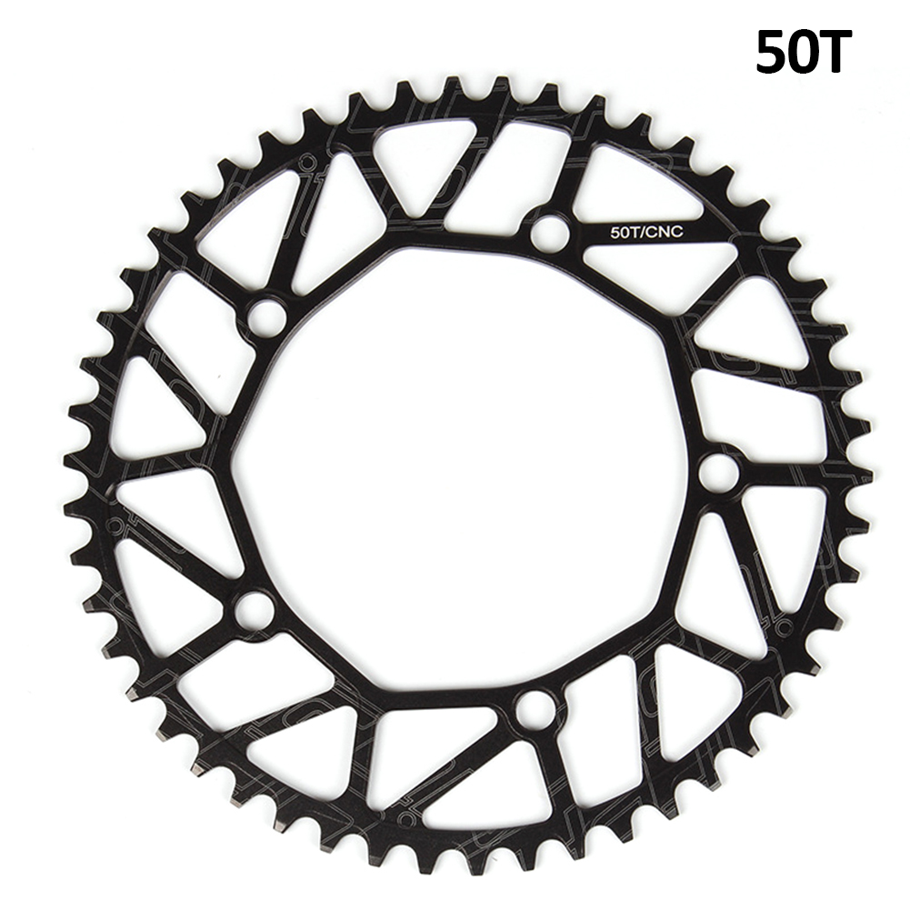 [Indonesia Direct] Litepro Bicycle Ultra-light Chain Wheel 8/9/10/11 Speed Aluminium Alloy Chainwheel Positive and negative tooth single plate 50T