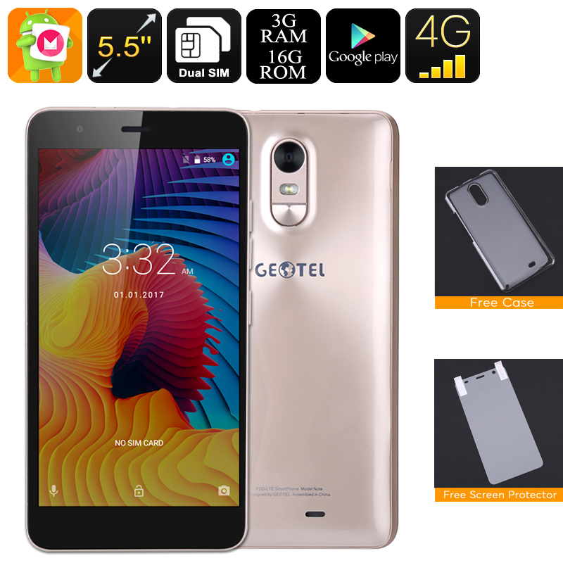 Android Smartphone Geotel Note (Gold)
