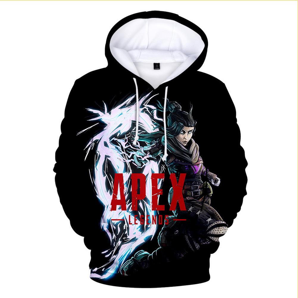 3D Digital Apex Legends Pattern Cotton Hooded Sweatshirt for Men Women N1_M