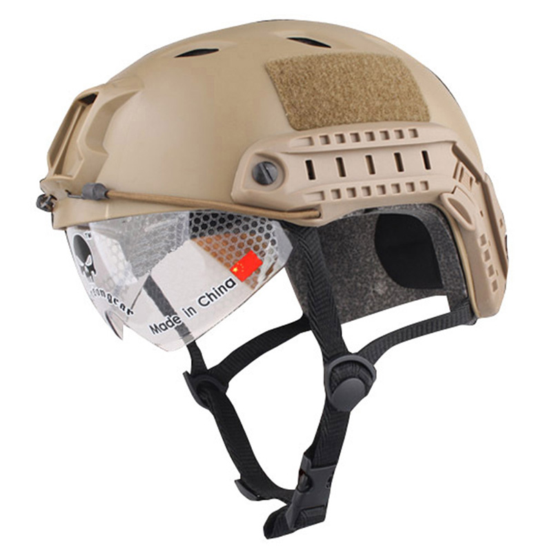 Windproof Helmet with Goggles