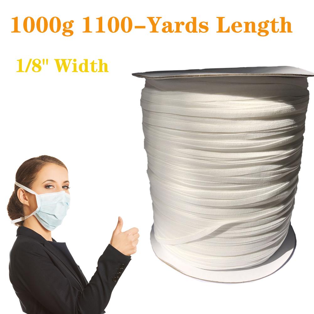 Elastic Cord Sewing Elastic Bands Wide Braided Elastic Rope Spool Elastic String 3mm 1000G 1100 yards