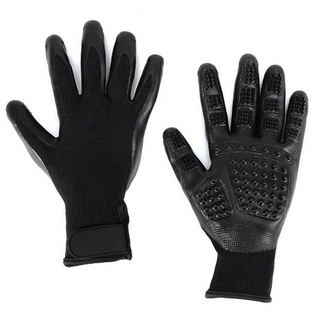 Massage Grooming Glove for Pet Dogs Cats Hair Removing Bathing  10th_black