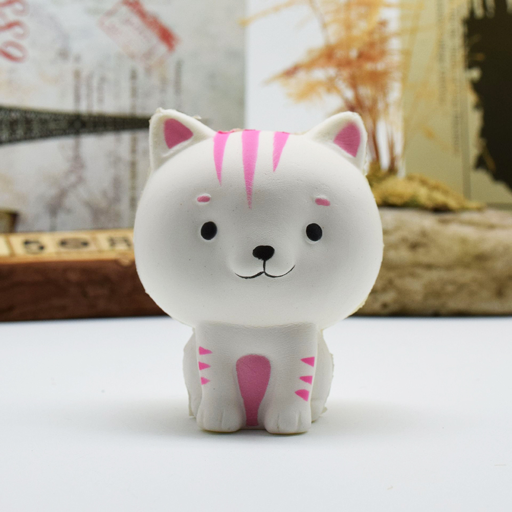 [EU Direct] Cartoon Cat Squishy Slow Rising Phone Straps Cute Kitten Soft Squeeze Bread Charms Scented Kids Toy