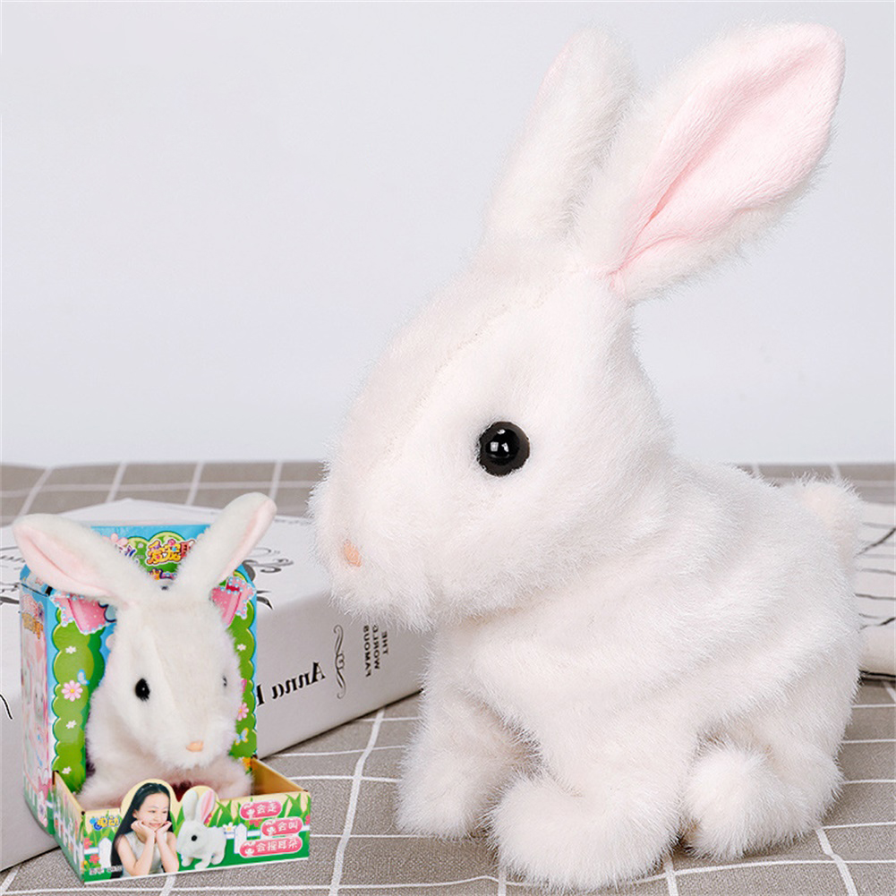 Dog Shape Electric  Plush  Toy Cute Simulation Puppy Plush  Toys Smart Robot  Dog White rabbit