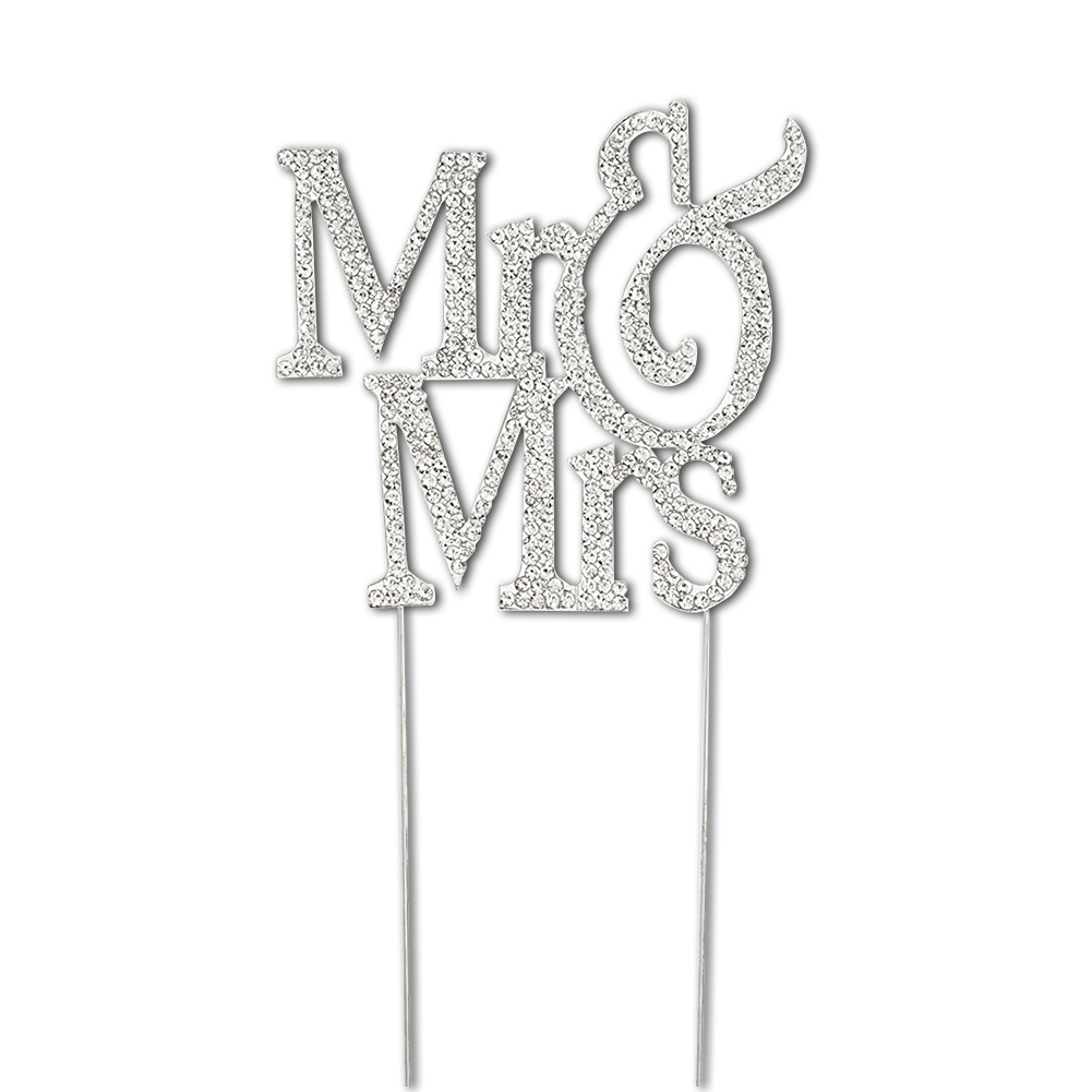Exquisite Crystal Decorating Cake Topper
