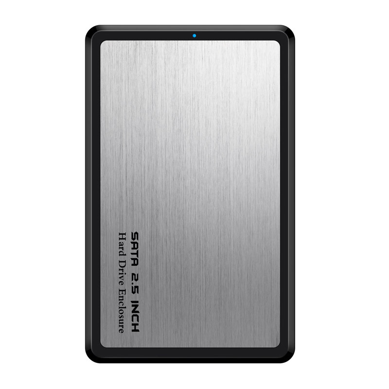2.5 Inch SSD HDD Case SATA to USB 3.0 Adapter Hard Driver Enclosure Alloy Support 6TB HDD Disk Silver