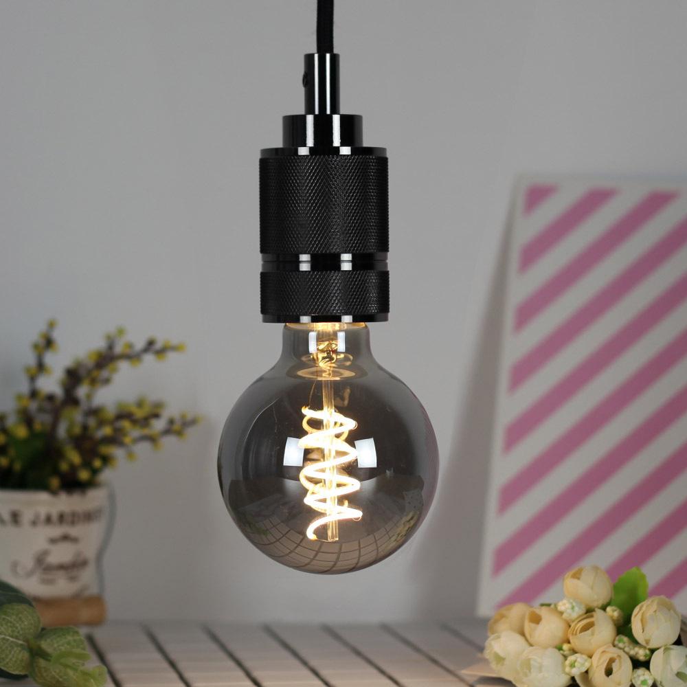 LED Dimmable Retro Edison Bulb E27 Single Spiral Filament Lamp for Resturant Decor
