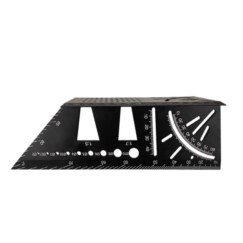 Multi-Function Ruler 45/90 Degree Line Angle Ruler Stop Type Ruler black