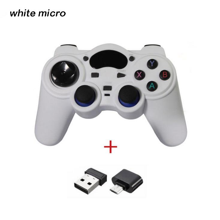 2.4g Android Gamepad Wireless Gamepad Joystick Game Controller Joypad White micro interface