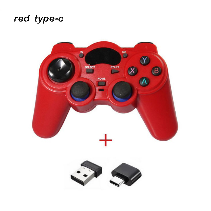 2.4g Android Gamepad Wireless Gamepad Joystick Game Controller Joypad Red type-C interface