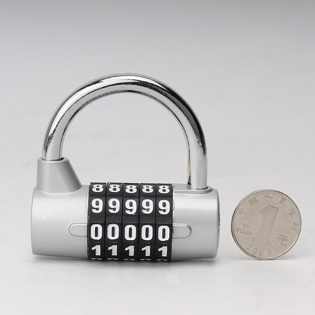 Door Cabinet Password Lock Five-digit Password Locker Locker Cabinet Door Lock silver