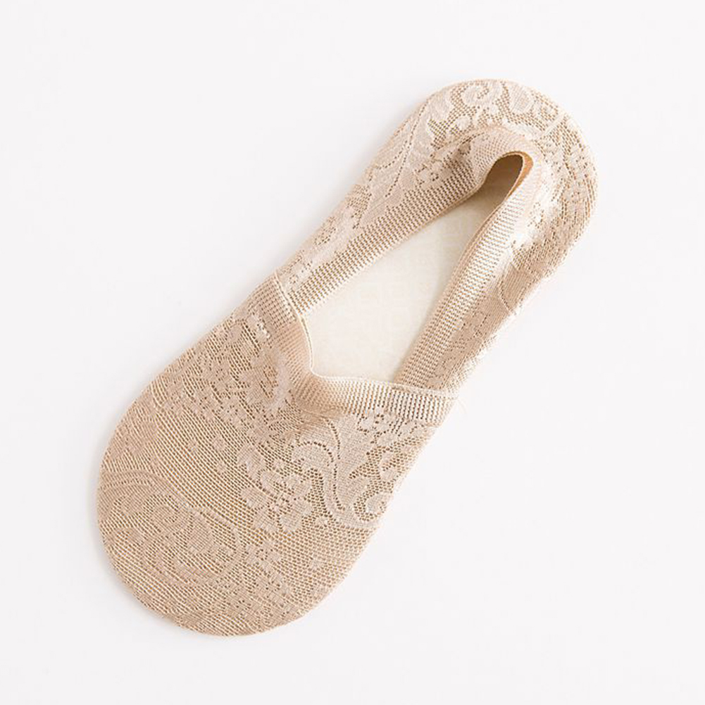 Women Girls Non Slip Lace Thin Ankle Socks for Spring Summer Wear