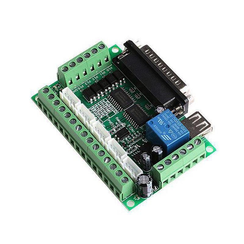 1pcs 5 Axis CNC Breakout Board for Stepper Driver Controller mach3 green