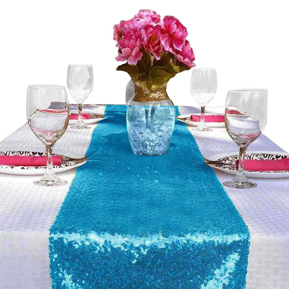 High Density Sequins Table Runner for Home Wedding Table Decoration 12x108 inch