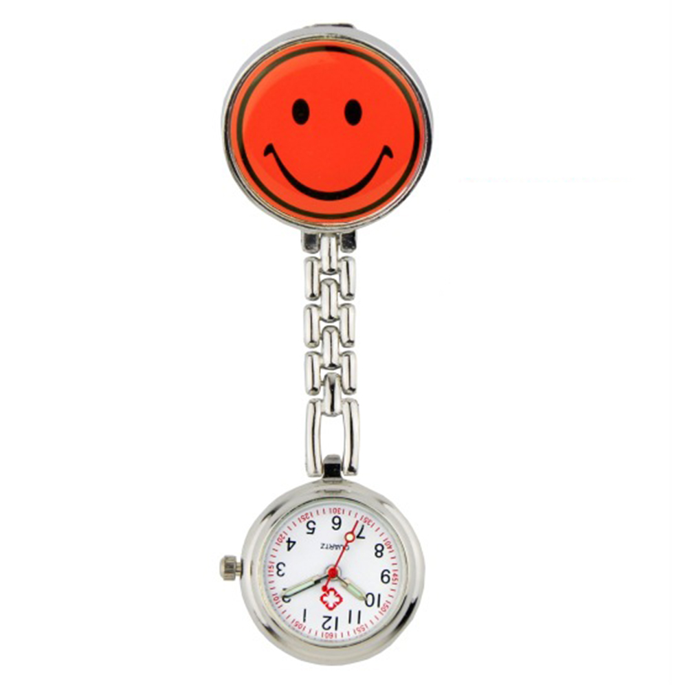 Fashion Casual Quartz Wrist Watch Luminous Smiley Face Pocket Watch