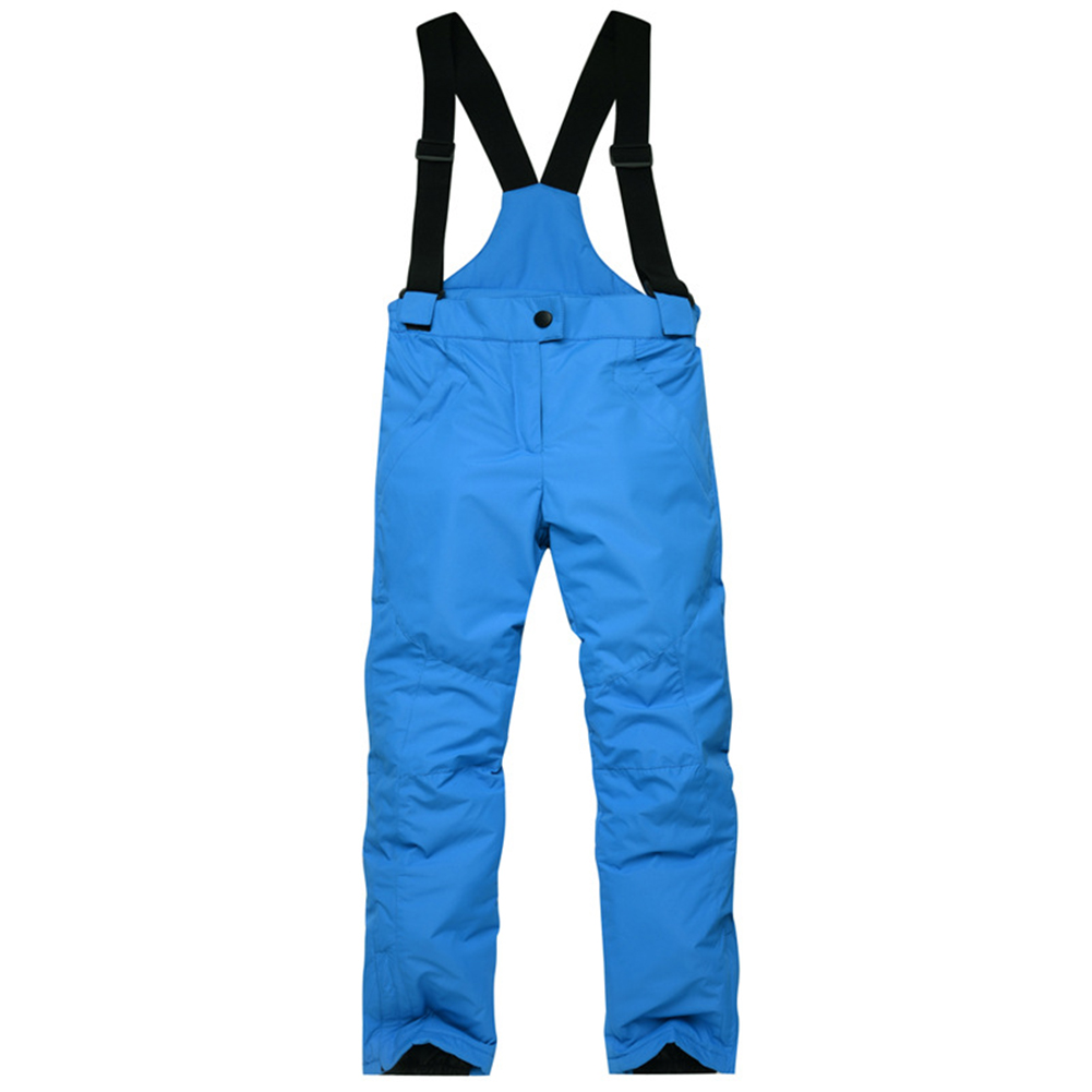 Thicken Windproof Warm Snow Children Trousers Winter Skiing and Snowboard Pants for Boys and Girls blue_M