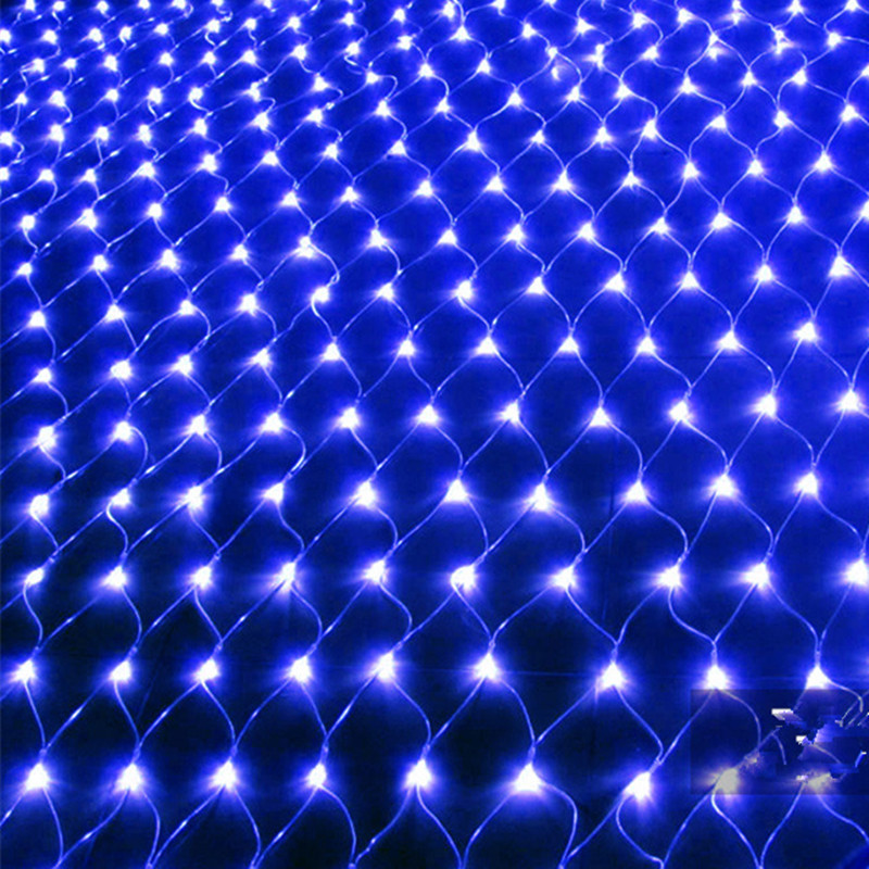 LED String Light Christmas Net Lamp with 8 Modes for Party Garden Decoration blue