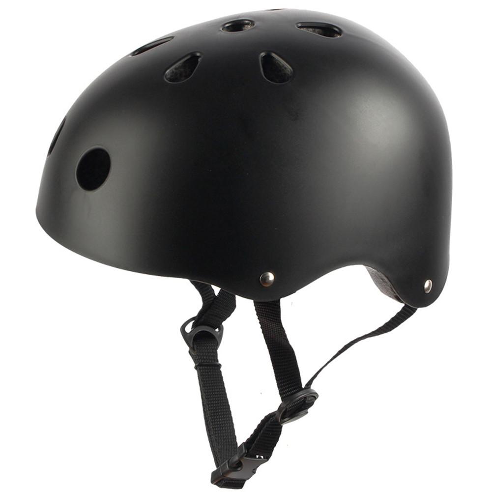 Adult Outdoor Sports Bicycle Road Bike Skateboard Safety Bike Cycling Helmet Head protector Helmet Matte-black_S