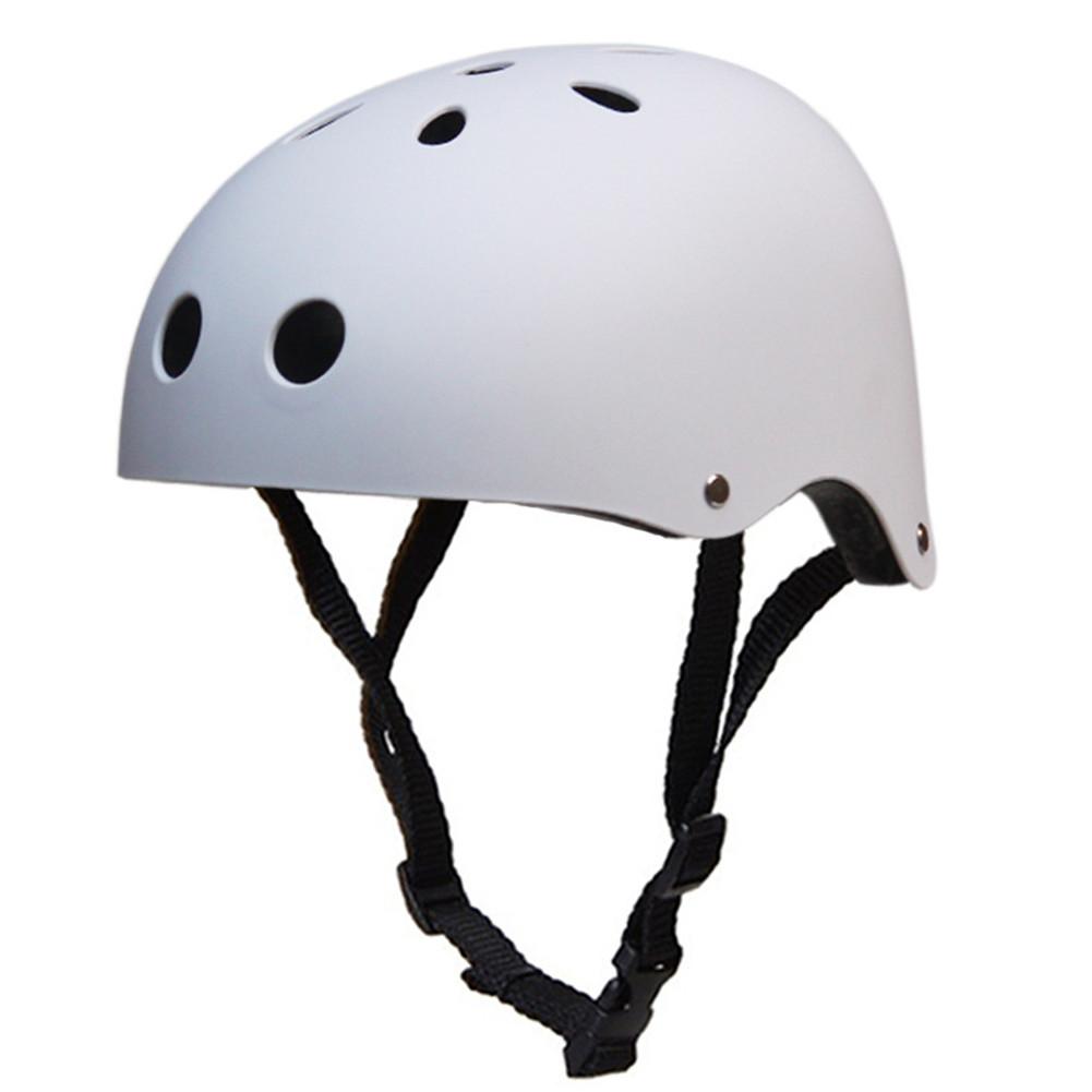 Adult Outdoor Sports Bicycle Road Bike Skateboard Safety Bike Cycling Helmet Head protector Helmet Matte-white_S