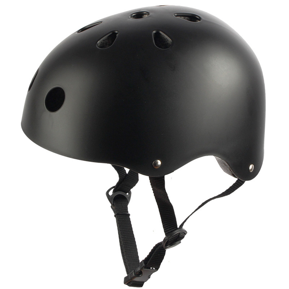 Adult Outdoor Sports Bicycle Road Bike Skateboard Safety Bike Cycling Helmet Head protector Helmet Matte-black_L