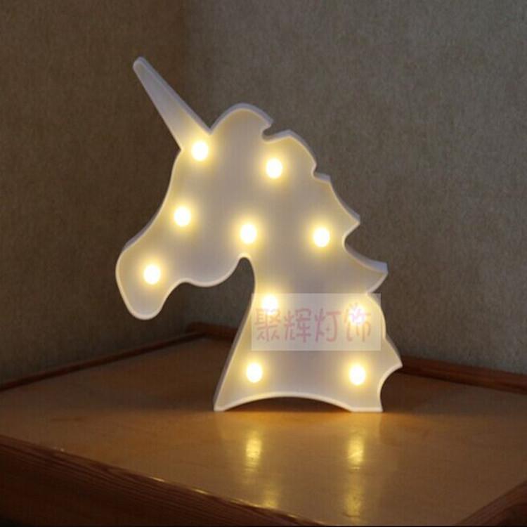 3D LED Night Light Romantic Desk Table Night Light Star Beast Head Decorative Lamp For Bedroom Kids Children Room Office Holiday Gift Cool white