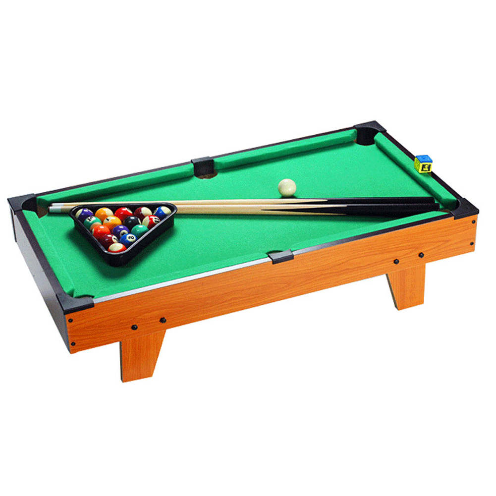 Mini Desktop Snooker Wooden Table Billiard Set PK Party Toy Indoor Game for Kid Adult As shown