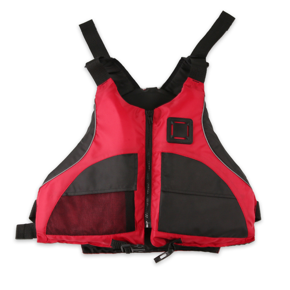 Life Jackets Polyester Oxford Cloth Epe Adult Professional Flood Control Surfing Buoyancy Vest red_free size
