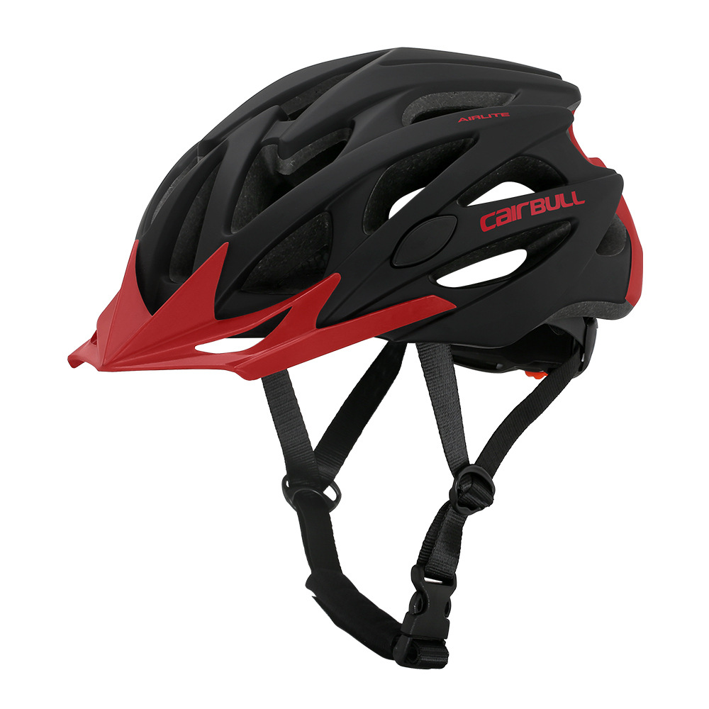 Helmet  With  Sunglasses For Road Bike MTB Outdoor Sports Riding Eps Safety Helmet Black red_m