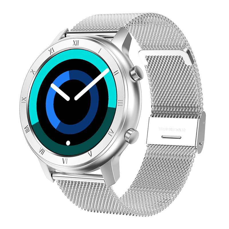 Dt89 Color Screen Smart Watch Information Push Female Cycle Reminder Bluetooth Sports Bracelet Silver Steel