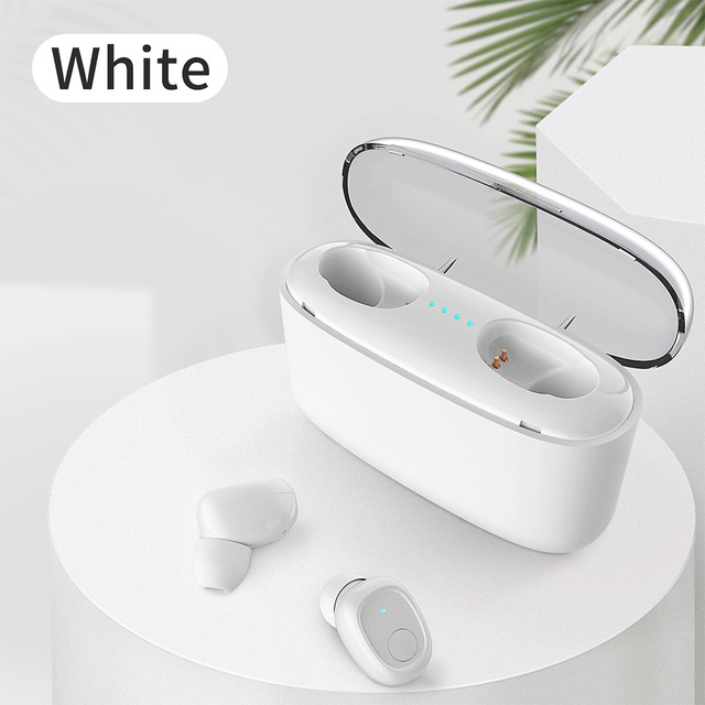 G5S TWS Earphones Wireless Bluetooth Headset with 3500mAh Power Bank 6D Sound CVC8.0 Gaming Headset Universal for Cellphone Laptop Tablet white