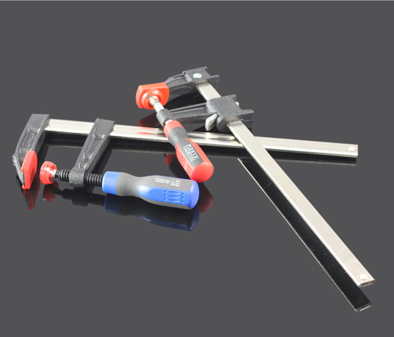 Heavy Duty F-Clamp with Non-Slip Handle Woodworking G-Clamp 5 * 10cm