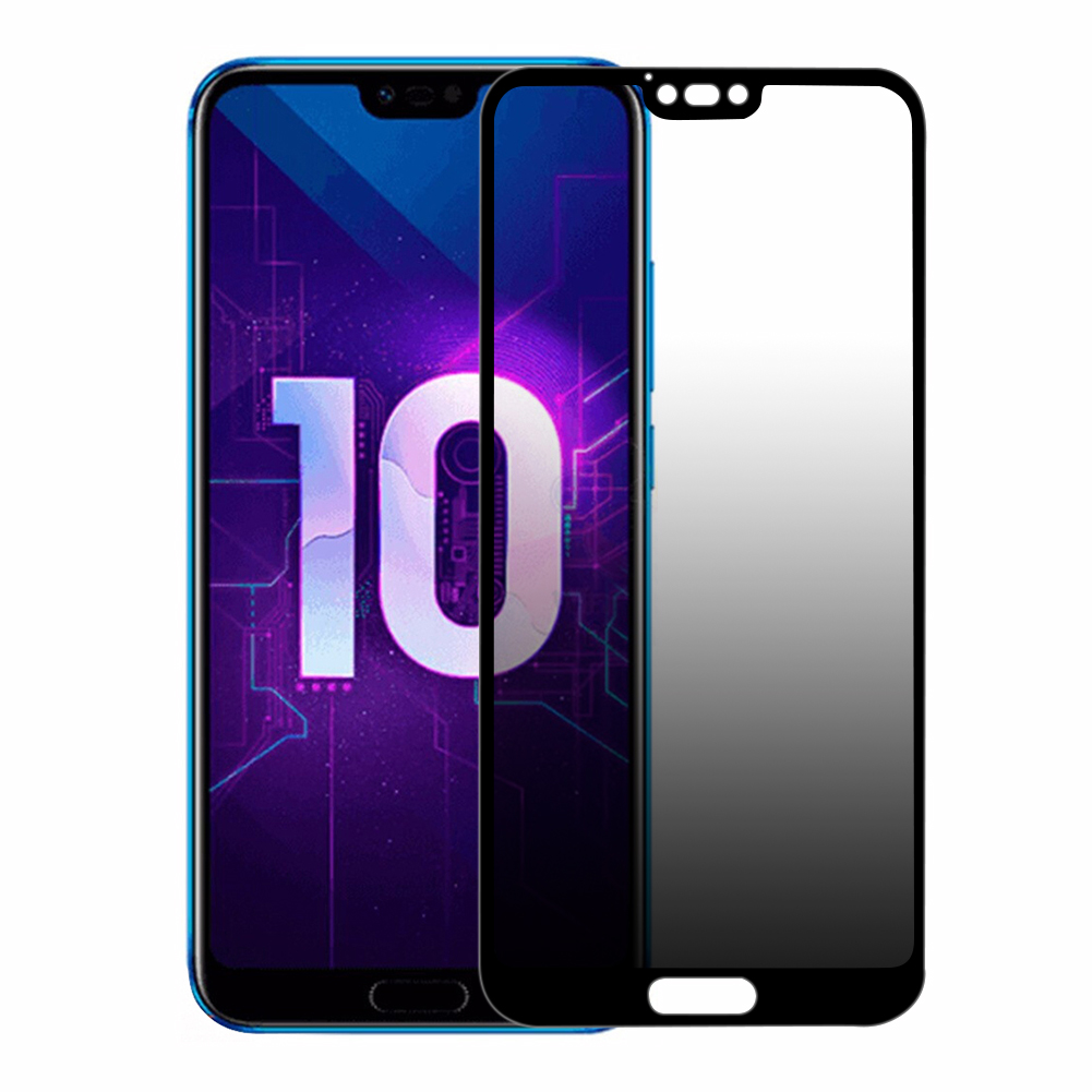 For HUAWEI Honor 10 2.5D Arc Edge 0.26mm Anti Peeping HD Full Protective Tempered Glass Film(with KT Plate)
