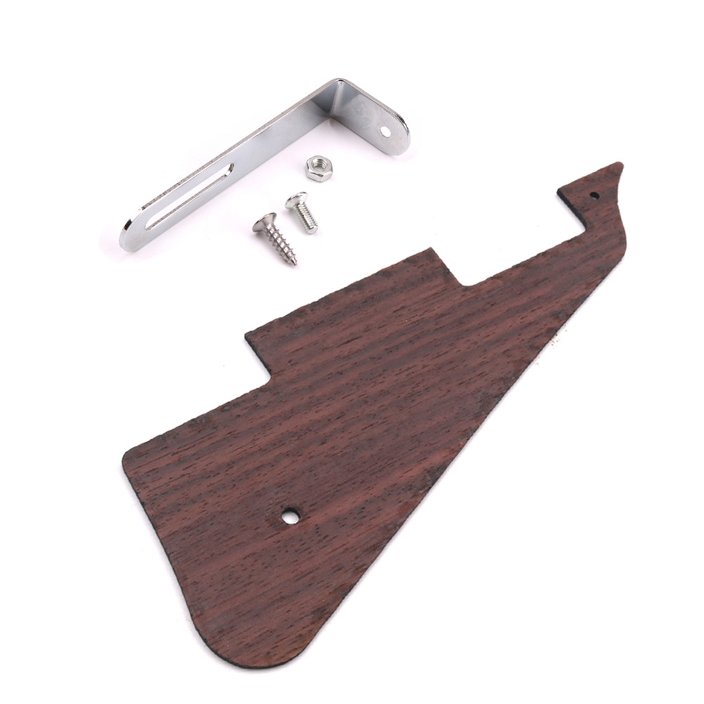 Electric Guitar Pick Guard Scratch Plate with Bracket for LP Style Guitar Parts Wood color