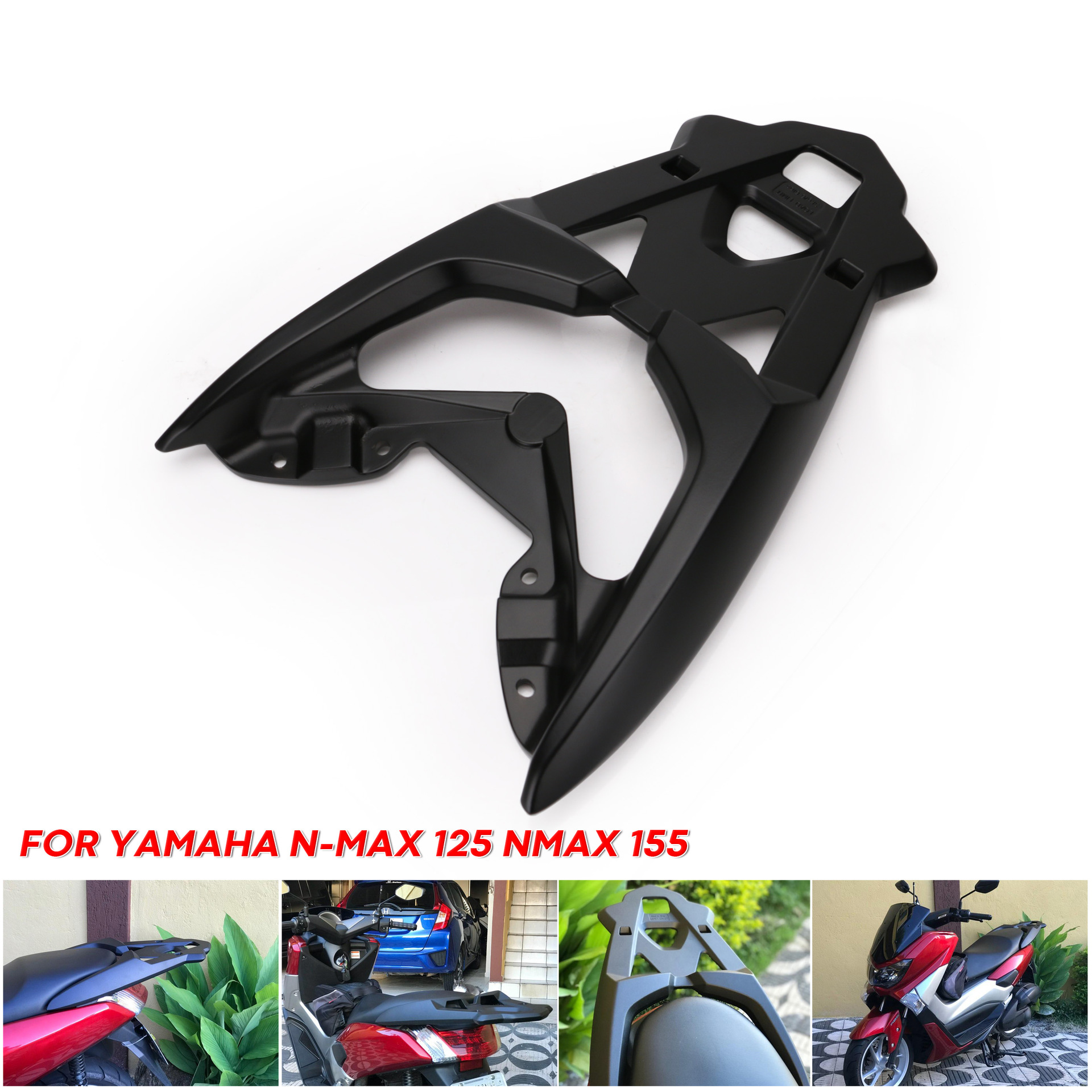 Stainless Steel Motorcycle Modified Motorcycle Rear Seat Luggage Holder Shelf Bracket For Yamaha Nmax 155 As picture show